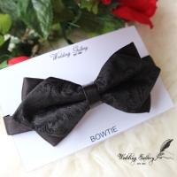 Dasi kupu bowtie batik import hitam motif texture black ready murah