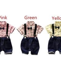 Setelan Kemeja Suspender Anak Import (SSK)