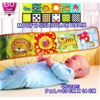 Bumper Baby Box Mainan Bayi Ranjang Crib Anak Cloth Soft Book 6 in 1