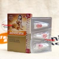 advocate flea and tick 10 kg - 25 kg for dogs obat kutu anjing bayer