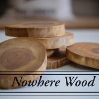 Teak Wood Coaster Dia 8-10 cm || Tatakan Dari Kayu Jati