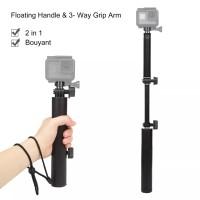 GoPro SJCAM - Pro 3 Way Handheld Foldable Selfie Stick Pole Monopod