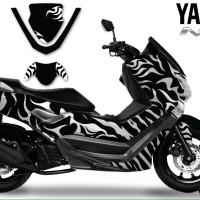 decal yamaha nmax white tiger design