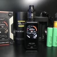 paket vape mod smoant charon mini 225w authentic kit RTA baterai lengk