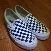 Vans slipon og checkerboard original