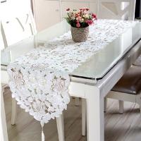 Table Runner Bordir - Taplak Meja Panjang Putih 40x150cm