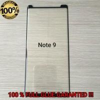 Note 9 Samsung CURVE FULL GLUE ORIGINAL Tempered Glass Anti Gores Kaca