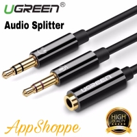 UGREEN Audio Splitter with Microphone 3.5mm Male 2 Dual 3.5mm Female