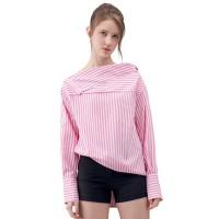 Baju Atasan Blouse Striped off Shoulder