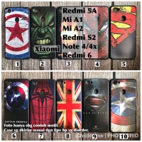 Softcase case man superheroes Xiaomi Redmi 5A/6/Mi A1 A2 S2 Note 4/4x