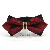 Dasi kupu diamond batik import ready merah maron hitam gold murah