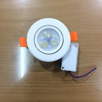 Lampu led Intech 220V 3 x 1 watt / led mata 3 / downlight spot - Putih
