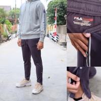 Celana training Fila Mens Sport Slim fitted Darkgrey 100% Original