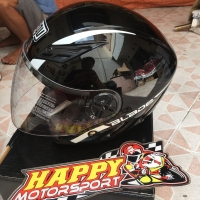 Helm Halfface AGV blade original Italy Robbiano Black Glossy size M &L