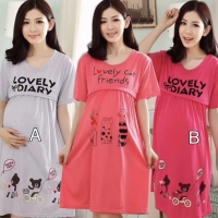 Baju Hamil Daster Menyusui Ibu Hamil Busui Dress Lovely Sleepwear