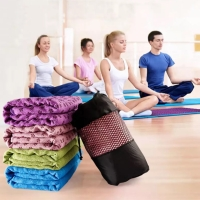 PANACHE Anti Slip, Anti Bacterial Washable Yoga Mat Towel With Bag