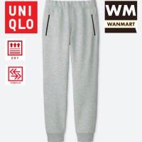 UNIQLO Men Pants Celana Sweat Dry Stretch Jogger Training Pria Gray