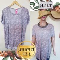 Blus Kaos Loose Wanita Branded Ekspor