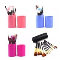 Kuas Make Up Set 12pcs Makeup Brush 12 Set In Tube Kuas Set Tabung