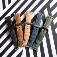 Strap Leather Retro For Apple Watch 42mm 44mm