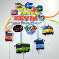 Topper Cake Birthday Tayo Custom