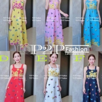 Maxi floral dress import bangkok DB47