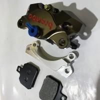 Kaliper 2Piston CNC Brembo Plus Breket Disc Standar Beat