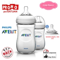 Botol susu Avent Philips milk bottle natural 260ml 260 ml White SATUAN