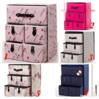 Kotak serbaguna 5 laci drawer storage box organizer pakaian dalam