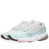 AUTHENTIC ADIDAS FALCON W LIGHT GREY AND GREEN