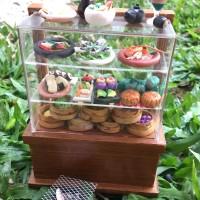 Miniatur clay Makanan Jepang dan Chinese Food display