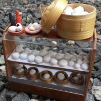 Miniatur clay bakpao display
