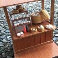 Miniatur clay bakpao gerobak / warung