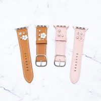 Strap Leather Flower For Apple Watch 38mm 40mm 42mm 44mm