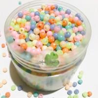 Aksesoris hiasan slime accesories bulat kecil pastel mote motek lucu
