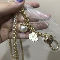 Bag's Strap chain tali tas rantai chaneI pearl and flowers
