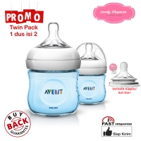 Botol susu Avent philips milk bottle natural 125ml 125 ml Blue TWIN