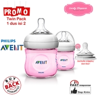 Botol susu avent philips milk bottle natural 125ml 125 ml Pink TWIN
