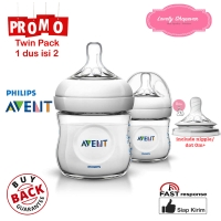 Botol Susu Avent Philips milk bottle natural 125ml 125 ml White TWIN