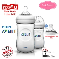 Botol susu Avent Philips milk bottle natural 260ml 260 ml White TWIN