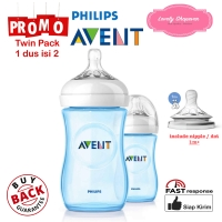 Botol susu Avent Philips milk bottle natural 260ml 260 ml Blue TWIN