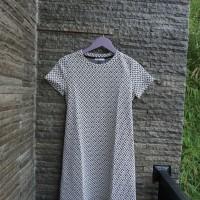 ZARA Trafaluc Black and White Geometric Print Dress