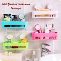 rak sabun tempel / tempat peralatan mandi gantung dinding bathroom