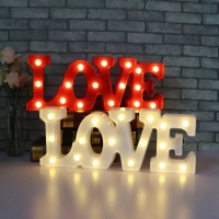 Kawaii Led Lamp LOVE LETTER/Lampu Dekorasi LOVE