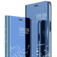 CLEAR View Standing Cover Mirror Case Flip Samsung Galaxy C9 Pro C9Pro
