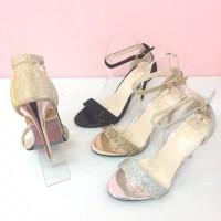 High Heels Pesta Simoncelli Tinggi 12 cm Bahan Glitter