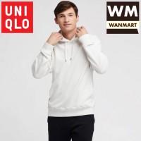 UNIQLO Men Jaket Sweater Hoodie Pria Lengan Panjang Off White