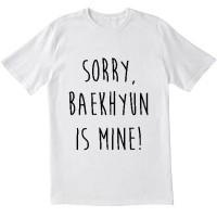 Kaos tshirt baju Exo Baekhyun putih