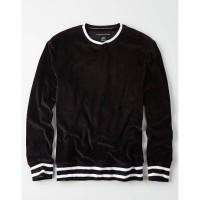 Sweatshirt American Eagle Suede Black 2 Striped original Not zara nike