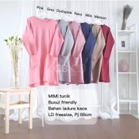 Baju mimi tunik blouse ladure kaos busui top wanita jumbo bigsize